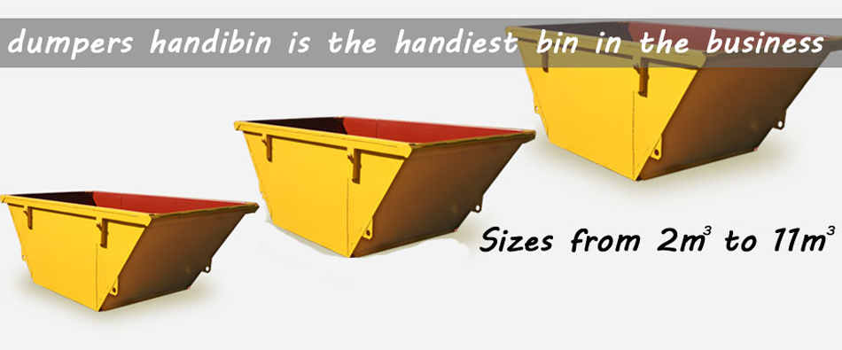 Dumpers Handbin has a range of skip bin sizes